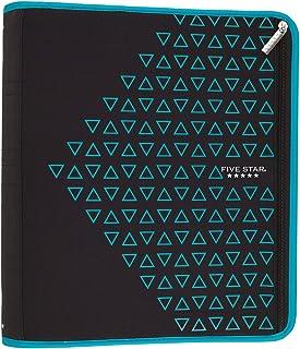 Five Star Zipper Binder, 2 Inch 3 Ring Binder, Xpanz, Teal Triangles (29040HZ9)