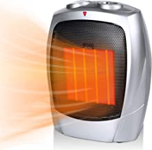 Moonflor 750W/1500W Ceramic Space Heater for Home Office Portable Electric Heater with Tip-Over Protection and Overheat Protection, Personal Heater with Adjustable Thermostat