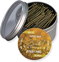 Super Grip Blonde Bobby Pins - 400 Ct - Handy Reusable Tin