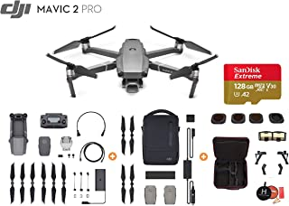 Mavic 2 Pro Drone Quadcopter, Photographer Bundle, with Filter Set (CPL ND8 ND16 ND32), Professional Carrying Case, Landing Pad, Landing Gear and Signal Booster (FlyMore Combo)
