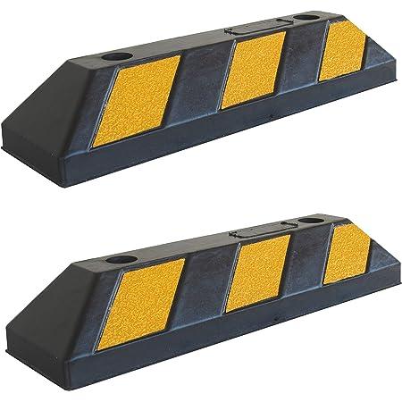 Sns Safety Ltd Rws 225 Gummi Radstopp Parkbegrenzung Für Parkhäuser Parkplätze Und Garagen Schwarz Gelb 60x12x10 Cm 1er Pack Gewerbe Industrie Wissenschaft