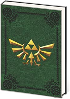 The Legend of Zelda Crest of Hyrule Hard Cover Premium A5 Notebook Note Pad