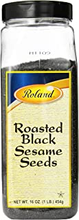 Roland Sesame Seeds, Roasted Black, 16 Ounce