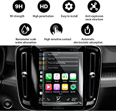 YEE PIN Volvo Accessories Navigation Display Tempered Glass Screen Protector for 2018 2019 Volvo XC40 Sensus 8.7 Inch Touch Screen Protector Anti-Scratch High Clarity