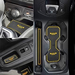 Auovo Anti-dust Interior Cup Mats Door Gate Slot Storage Mats for Jeep Renegade 2018 (16PCS/Set, 2018)