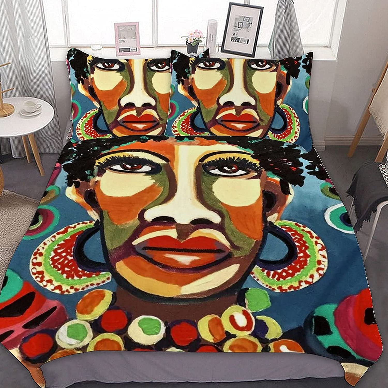 Popular PSSMMAL African Art 3 Pieces Bedding Queen for Sets Fees free Ki Comforter