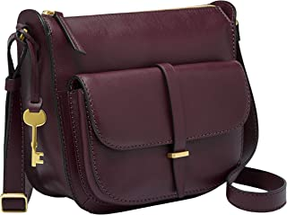 Fossil Women's Cross-Body Handbag, 10.25'' L x 3.5'' W x 8.5'' H, Purple