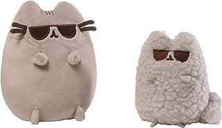 GUND Pusheen and Stormy Sunglasses Plush Stuffed Animals, Collector Set of 2, Gray