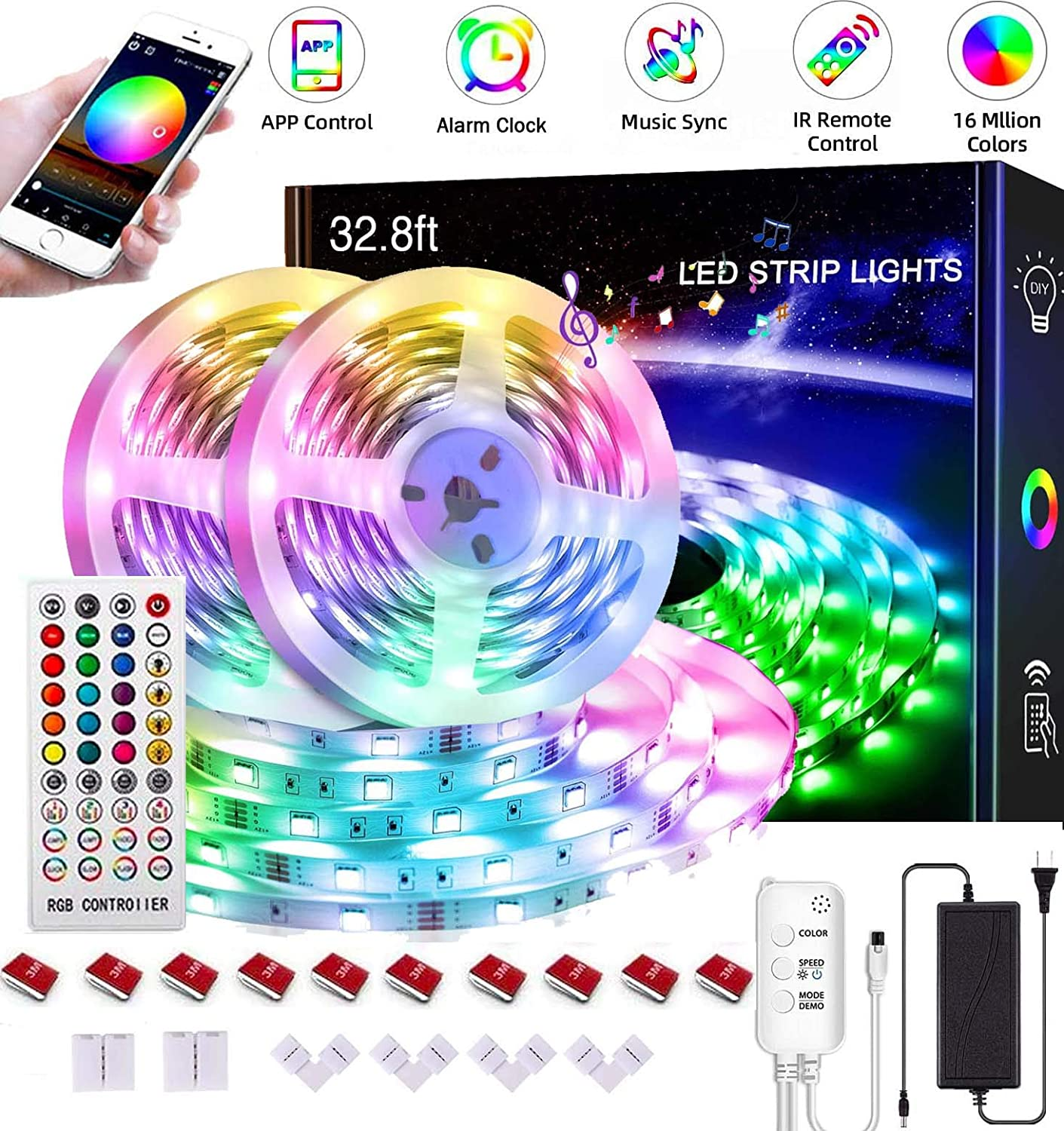 Led Strip Lights 32.8ft5050 RGB Bluetooth Ranking TOP6 favorite Light Strips with