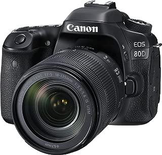 Canon Digital SLR Camera Body [EOS 80D] and EF-S 18-135mm f/3.5-5.6 Image Stabilization USM Lens with 24.2 Megapixel (APS-C) CMOS Sensor and Dual Pixel CMOS AF - Black