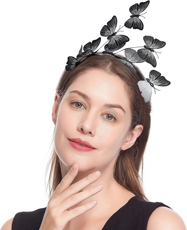 Butterfly Wings for Women, Festival Crown Fair Wings Halloween Costume Bohemian Wedding Hair Headpiece