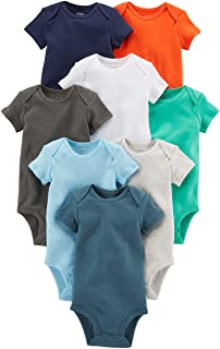 Carter's baby-boys 8-pack Short-sleeve Bodysuits