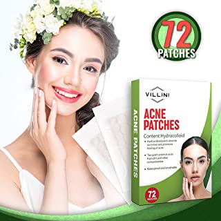 VILLINI Acne Pimple Patch Master Hydrocolloid Dressing Skin Care 72 Count - Acne Absorbing Colloid Spot Patches - Cystic Hydrocolloid Acne Cover Patch - Pimple Spot Sticker