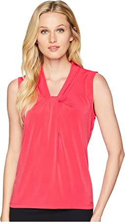Solid Knot Neck Sleeveless Top