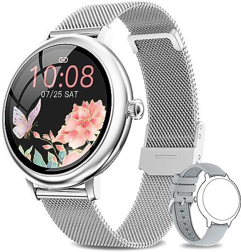 NAIXUES Smartwatch Damen, Fitness Tracker IP67 Wasserdicht, Fitnessuhr mit Aktivitätstracker Pulsuhr Stoppuhr Schlafmonitor Schrittzähler Uhr,…
