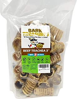 Bark Treasures - Beef Trachea 6 inch Dog Chews - Premium Dog Treats