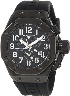 Men's 10541-BB-01-SA Trimix Diver Chronograph Black Dial Watch