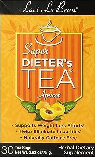 Laci Le Beau Super Dieter's Tea, Apricot, 30 Count Box (Pack of 4)