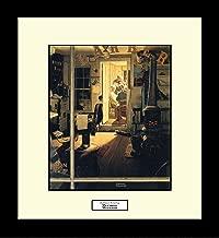 Norman Rockwell SHUFFLETON'S BARBERSHOP Framed Barber Wall Hanging Art Gift
