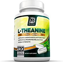 BRI L-Theanine 200mg Supplement Enhanced with 100mg Inositol for Relaxation, Anxiety and Stress Relief, Restful Sleep and Mood Boost (120 Count)