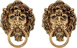 Lions Head Door Knocker Post Earrings
