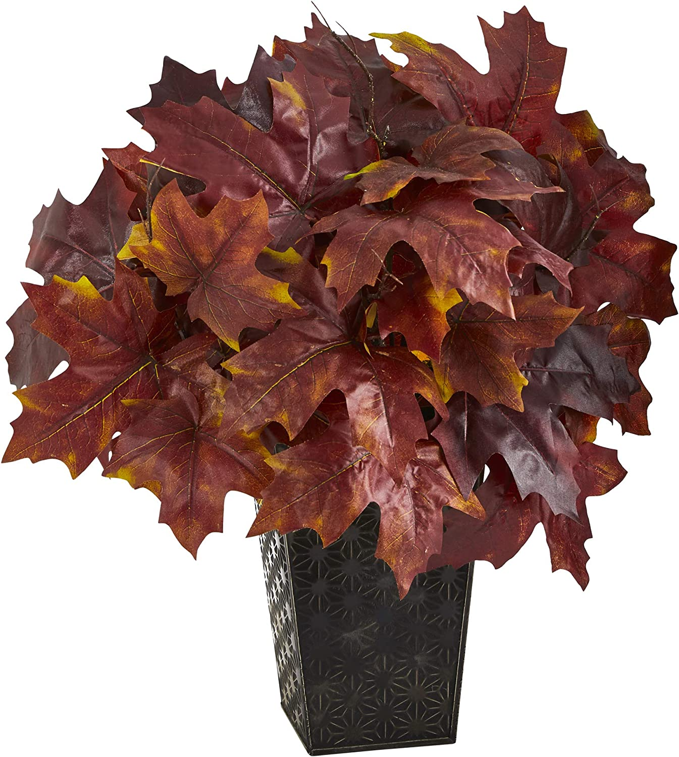 18in. Autumn Maple Leaf Artificial Sale Black Plant Embossed Max 72% OFF in