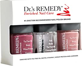Dr.'s Remedy All Natural Anti Fungal Nail Polish ANNIVERSARY KIT Organic Non Toxic Toenail Fungus Treatment 3 Piece Nail P...