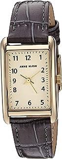 Anne Klein Women's Easy to Read Croco-Grain Leather Strap Watch, AK/3540