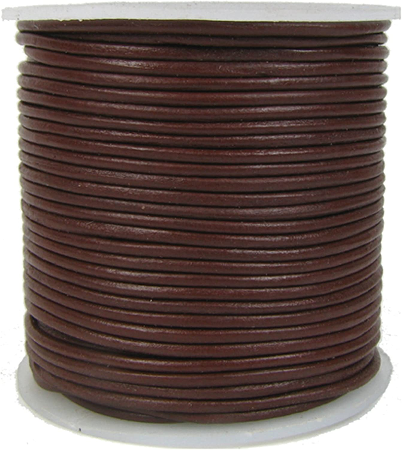 Gray Leather 1mm Leather 4 Yards 1mmDS-Brown Distressed Natural Brown Antiqued Rustic Round Leather or Cord