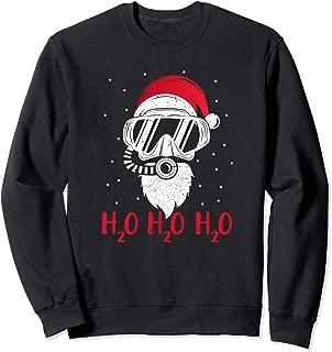 Diving Santa H2O H2O H2O funny Christmas Dive XMAS Gift Sweatshirt