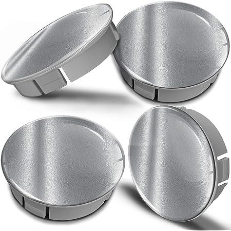 Biomar Labs 4 X 60mm Kunststoff Nabenkappen Kappen Silber Silver Felgendeckel Radkappen Radnabendeckel Nabendeckel Auto Tuning Cs 7 Auto