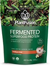 PlantFusion Organic Fermented Superfood | Plant Based Protein Powder with Digestive Enzyme's | Supports Immunity, Metabolism & Energy, Gluten Free, Vegan, Non-GMO, No Sugar, Vanilla, 300g