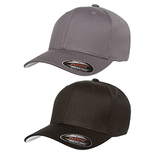 low priced 98031 bdc3f Flexfit 2-Pack Premium Original Cotton Twill Fitted Hat …