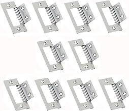 Visua Steel Flush deurkast scharnieren gepolijst chroom. 51 x 25 mm. 10 stuks.