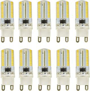 MENGS® Pack de 10 Regulable Bombilla lámpara LED 4 Watt G9, Blanco Cálido, AC 220-240V
