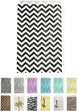 "Novel Box® Black Chevron Print Paper Gift Candy Jewelry Merchandise Bag Bundle 6X9"" (100 Count) + Custom NB Pouch"