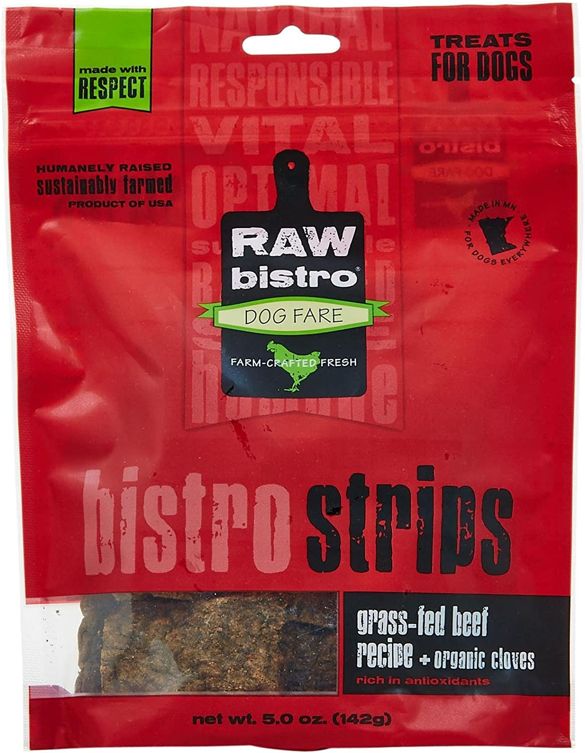 Raw Bistro Bistro Strips Beef 5 Ouces