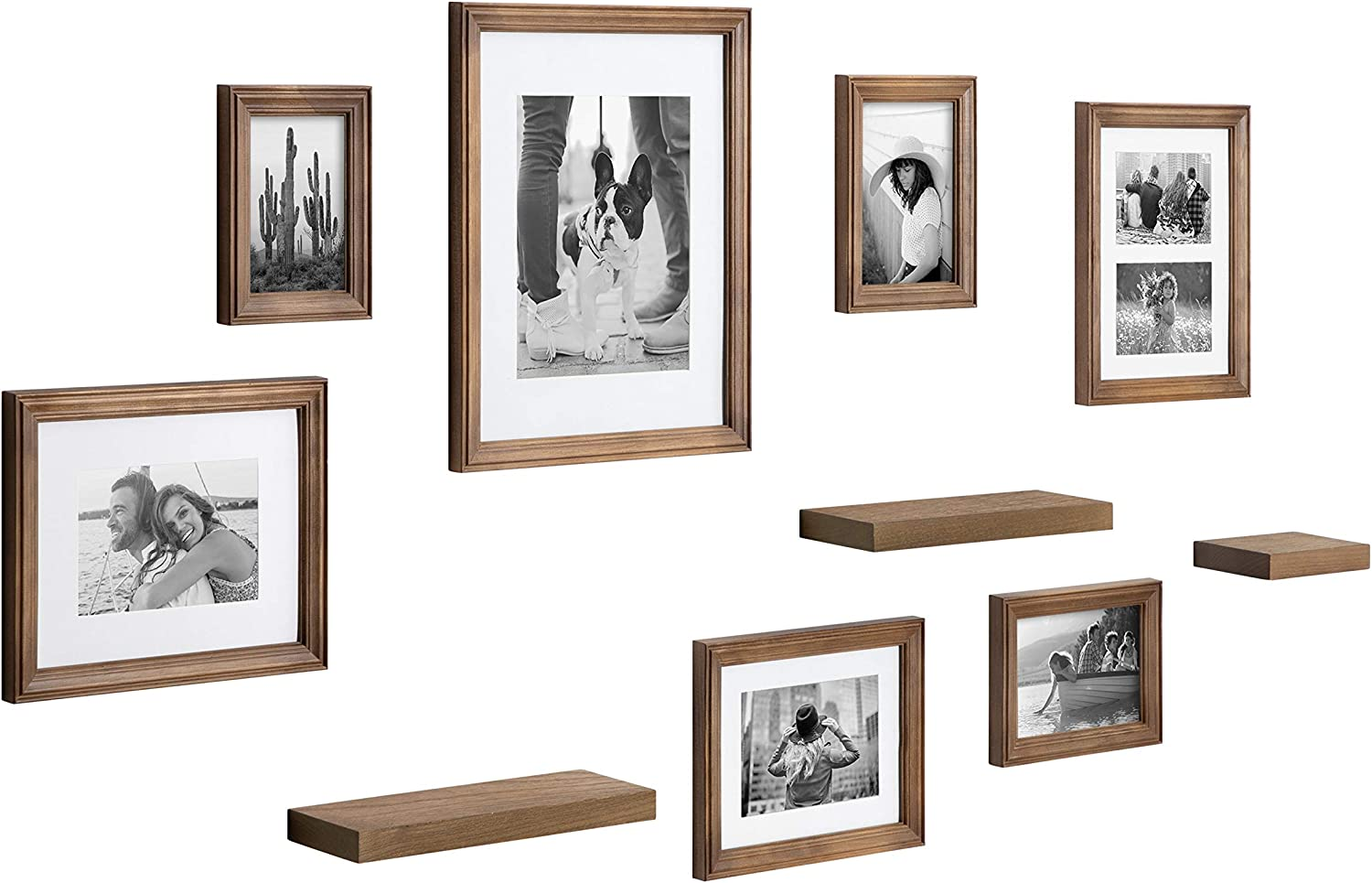 Buy Kate and Laurel Bordeaux Gallery Wall Frame and Shelf Kit, Set ...