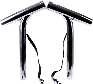 Amarine Made (Set of 2 Silver Highly Polished Stainless Steel Outrigger Stylish Rod Holder