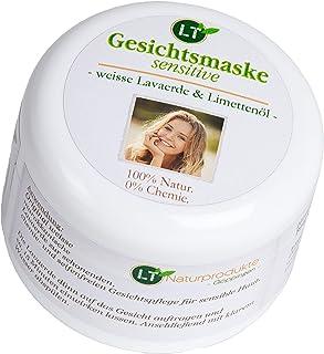 Bio-Gesichtsmaske SENSITIVE aus weisser Lavaerde/Kaolin | Limettenduft | 150ml | vegan, chemie- und seifenfrei | Tonerde-Maske zur chemiefreien Gesichtsreinigung