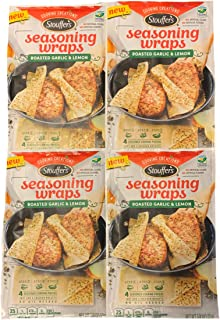 Stouffers Seasoning Wraps Roasted Garlic and Lemon | Seasoning Wraps | Chicken and Poultry Seasonings | Pack of 4 Pouches | Each Pouch Contains 4 Wraps