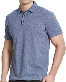 Men's Cotton Polo Shirts, Short Sleeve Athletic Golf Polo Shirts for Men