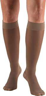 (Medium, Taupe) - Truform 0263TP-M Womens TruSheer 20-30 mmHg Knee High Support Stockings - Size- Medium, Colour- Taupe