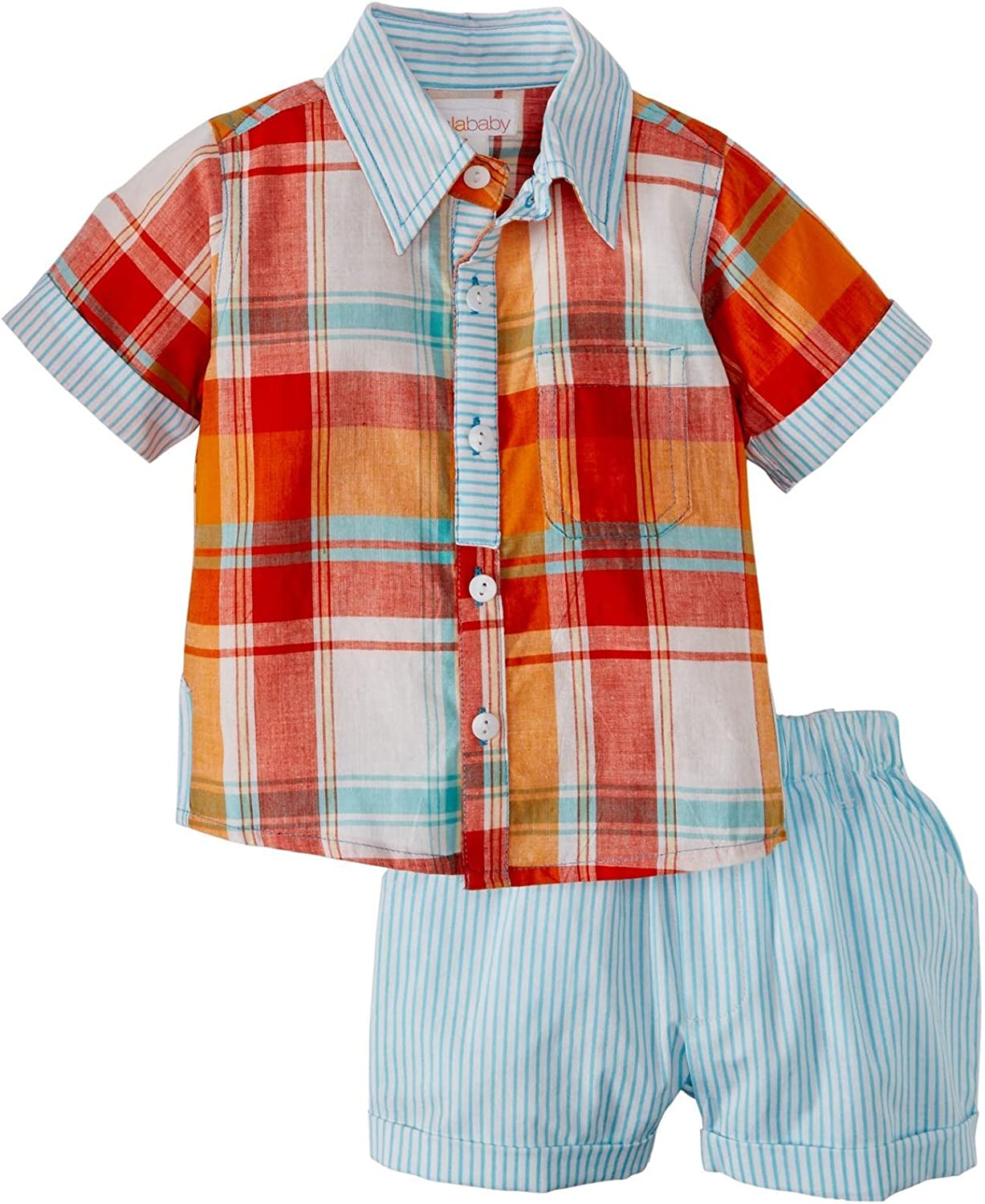 Masala Neat Shirt 2 Piece Limited Save money time for free shipping Months Baby - Orange-6-12 Set