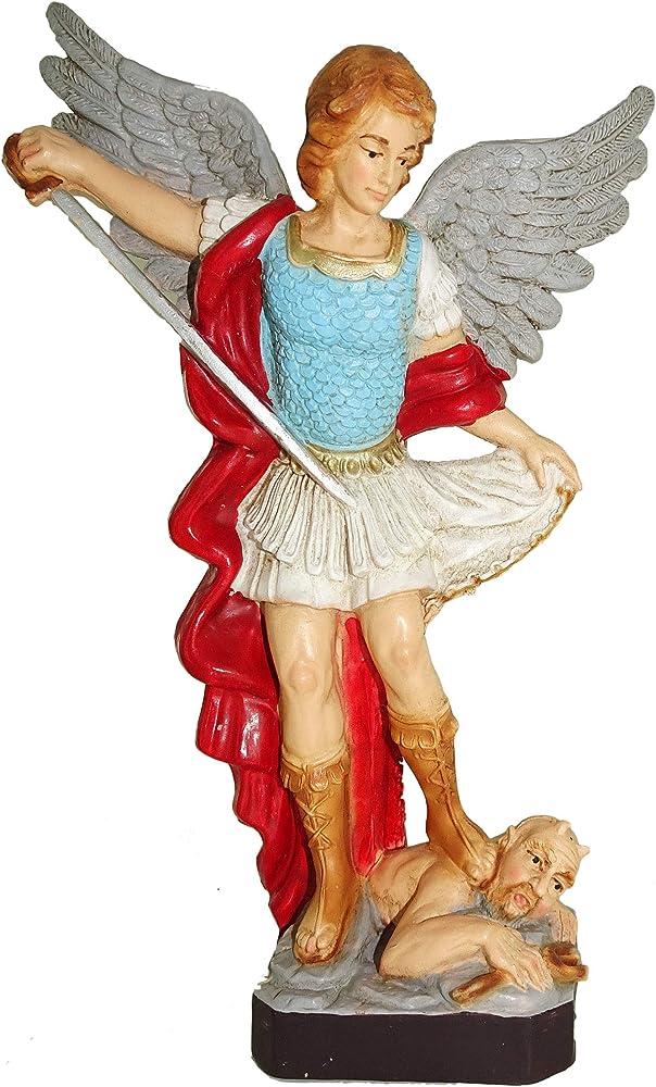 Ferrari & arrighetti, statua di san michele arcangelo, in resina, 16 cm 122916