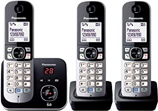 Panasonic KX-TG6823ALB DECT Digital Cordless Phone with Answering System and 3 Handsets