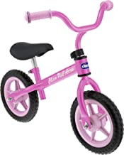 Chicco First Bike - Bicicleta sin pedales con sillín regulable, color rosa, 2-5 años