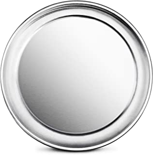 New Star Foodservice 50868 Pizza Pan/Tray, Wide Rim, Aluminum, 8 Inch, Pack of 6