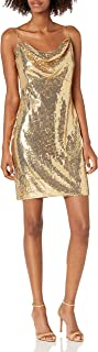 SHO womens SLVLESS SEQUIN DRESS Special Occasion Dress