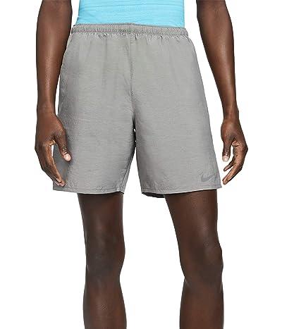 Nike Dri-FIT Challenger Shorts 7 2-in-1 (Smoke Grey/Heather/Reflective Silver) Men